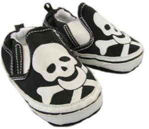 Black Skull Baby Shoes