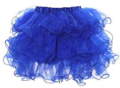 Scalloped Tutu Blue