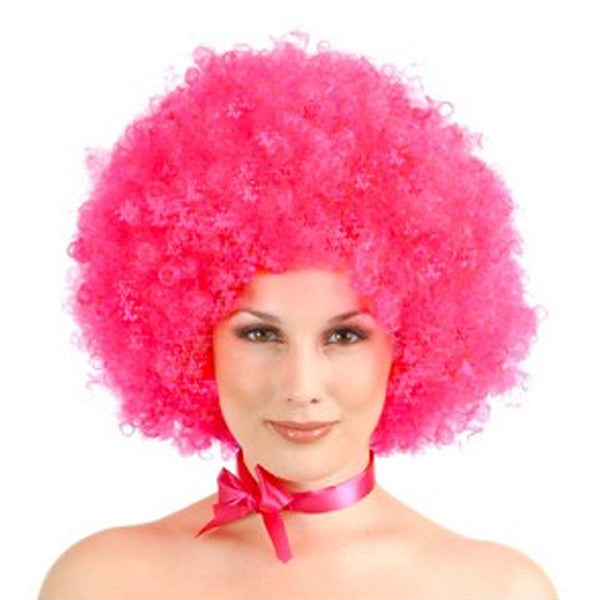 Fluro Pink Afro Wig