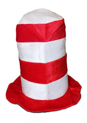 Kid's Cat in the Hat Red and White Striped Hat