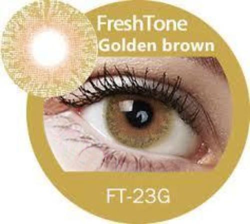 Freshtone Golden Brown Contact Lenses