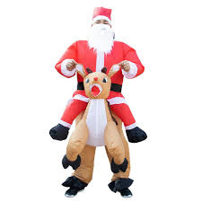 Inflatable Santa Ride On Reindeer