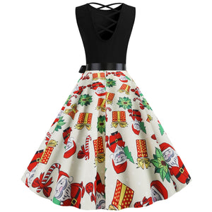 Christmas Presents & Santa Claus Vintage Dress