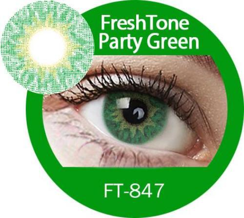 Freshtone Party Green Contact Lenses