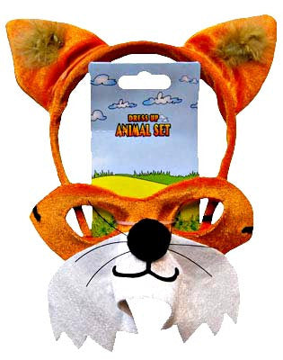 Fox Animal Headband & Mask Set