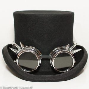Black Steampunk Goggles With Spikes