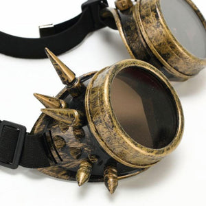 Bronze Steampunk Goggles With Spikes