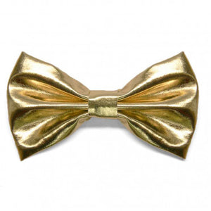 Metallic Gold Pre-Tied Bow Tie