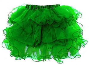 Scalloped Tutu Green