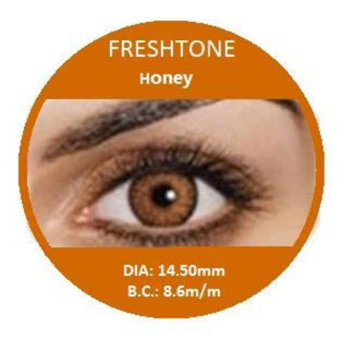 Freshtone Honey Contact Lenses