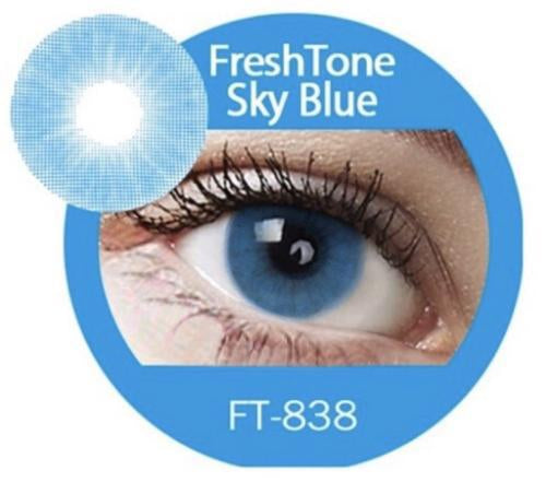 Freshtone Super Naturals: Sky Blue Contact Lenses