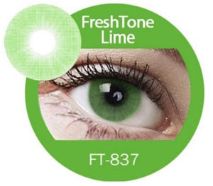 Freshtone Super Naturals: Lime Green Contact Lenses