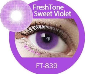 Freshtone Super Naturals: Sweet Violet Contact Lenses