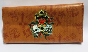 Purse Living Memory Skull And Roses