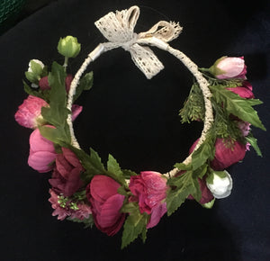 Flower Crown Dark Pink
