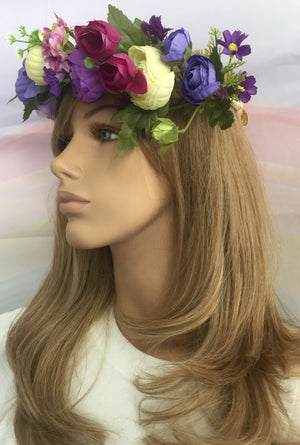 Flower Crown Purples