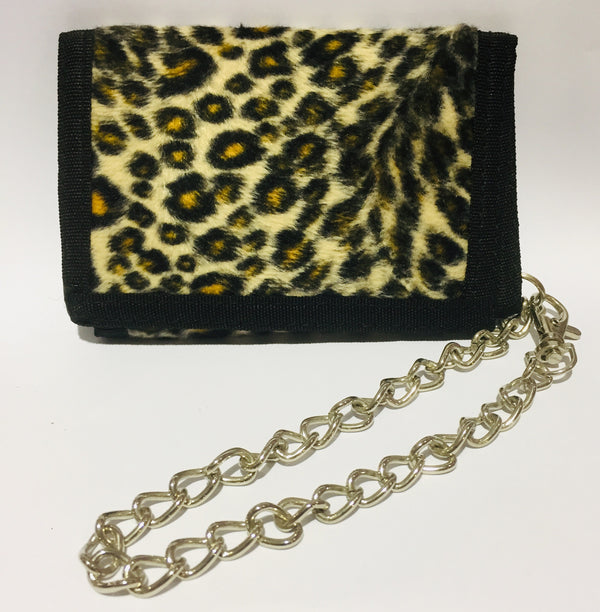 Wallet Brown Leopard Fur