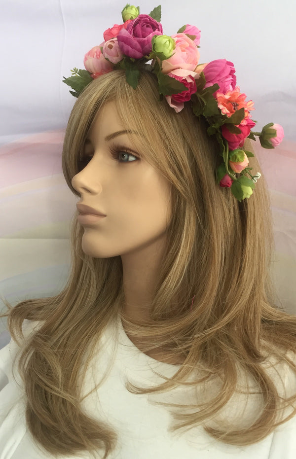 Flower Crown Bright Pink