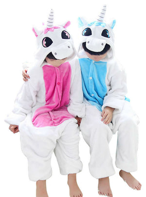 Kid's Blue Unicorn Onesie