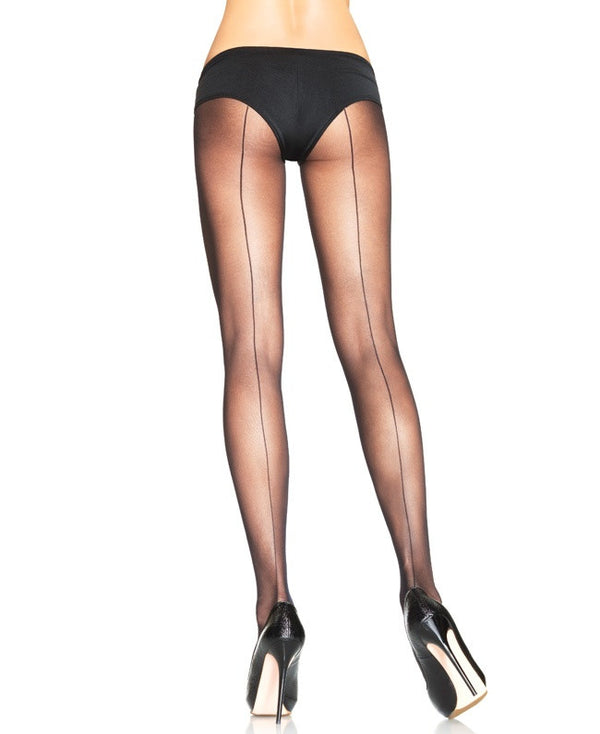 Leg Avenue: Sheer Pantyhose with Back Seam PLUS SIZE