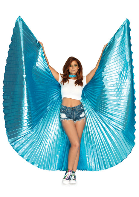 Metallic Light Blue Isis Wings