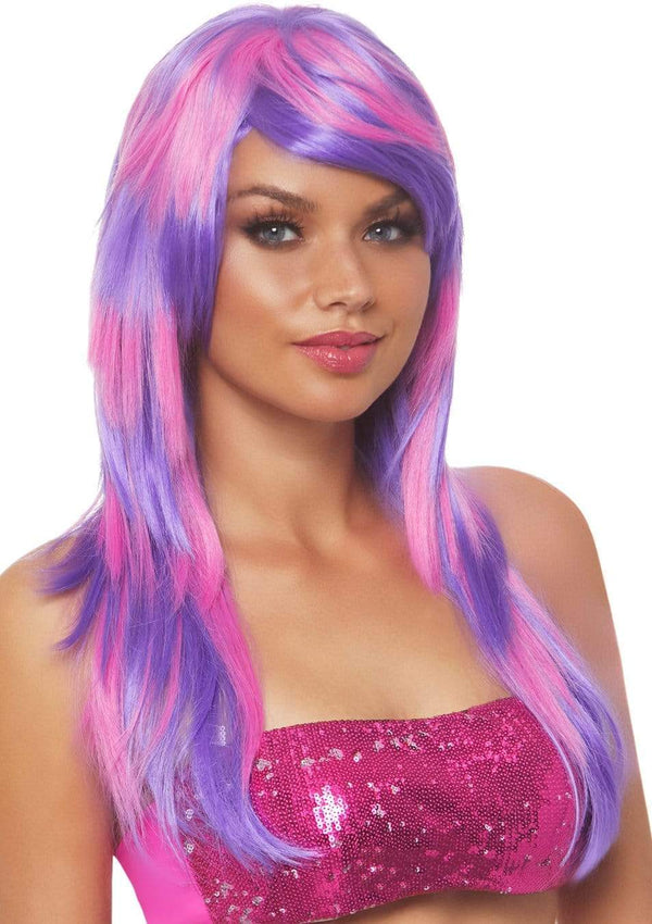 Purple and Pink Cheshire Cat Wig