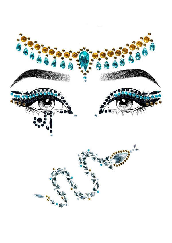 Cleopatra Rhinestone Face Jewels
