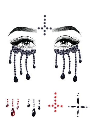 Possessed Rhinestone Face Jewels