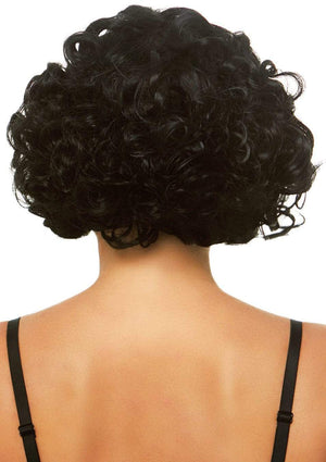 Curly Black Deluxe Bob Wig
