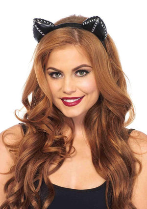 Black Stitch Cat Ears