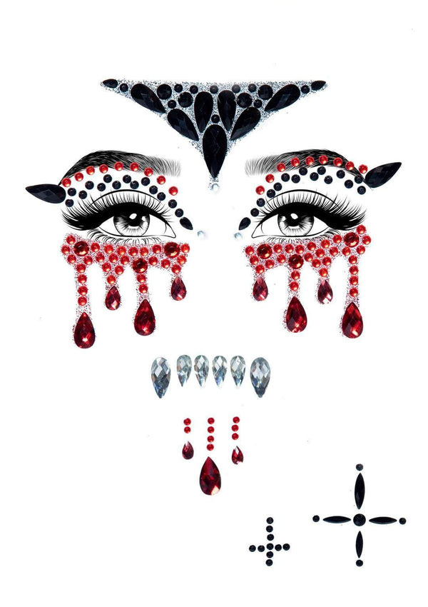 Vampire Rhinestone Face Jewels