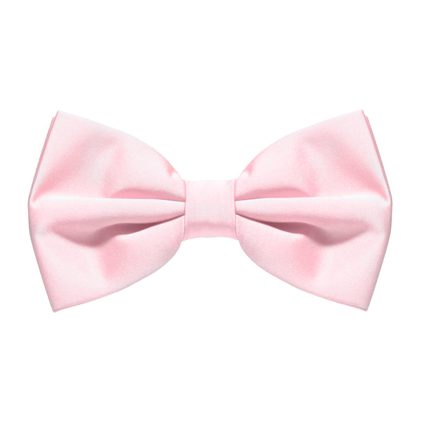 Baby Pink Satin Pre-Tied Bow Tie