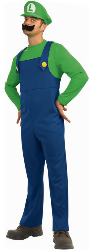 Long Sleeved Men's Luigi Costume