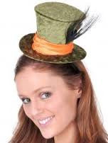 Small Velvet Mad Hatter Green Top Hat