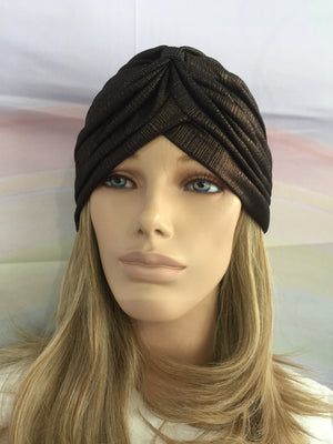 Metallic Turban Brown