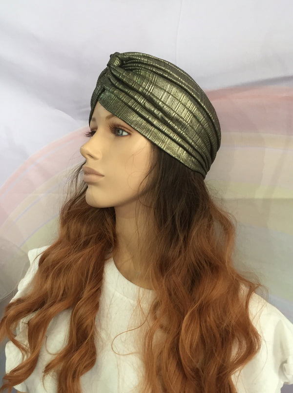 Metallic Turban Gold