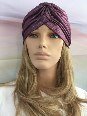 Metallic Turban Purple