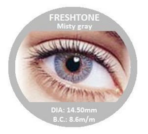 Freshtone Misty Grey Contact Lenses