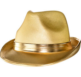 Metallic Gold Fedora
