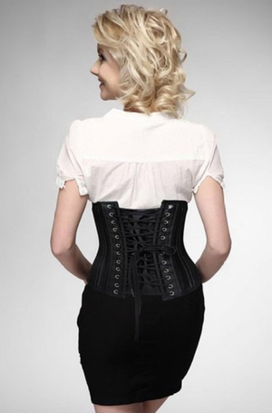 Black Underbust Steel Boned Corset