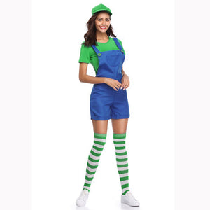 Ladies Luigi Overalls Costume