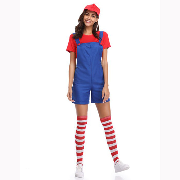 Ladies Mario Overalls Costume