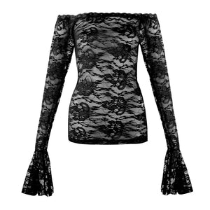 Black Lace Underlay Top