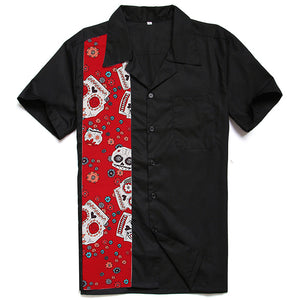 Men's Day of the Dead Bowling Style Shirt