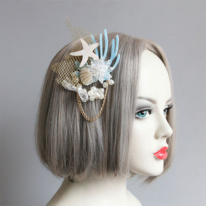 Mermaid Shell and Pearl Hair Clip