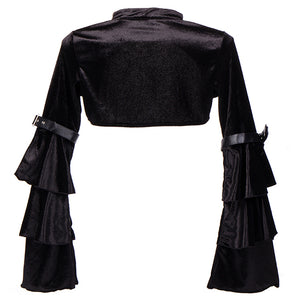 Cropped Black Velvet Steampunk Shrug