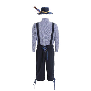 Navy Blue Men's Lederhosen