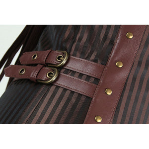 Men's Brown Overchest Steampunk Vest