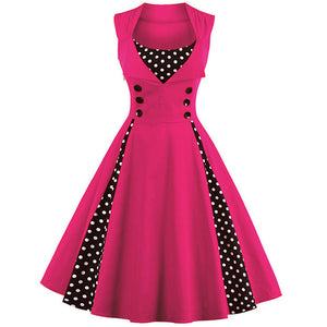 Hot Pink 1950's Swing Dress