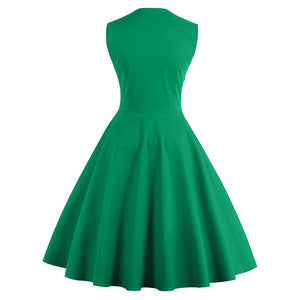 Gemstone Green 1950's Swing Dress